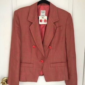 Vintage RARE Celine Paris Tweed Suit Set
